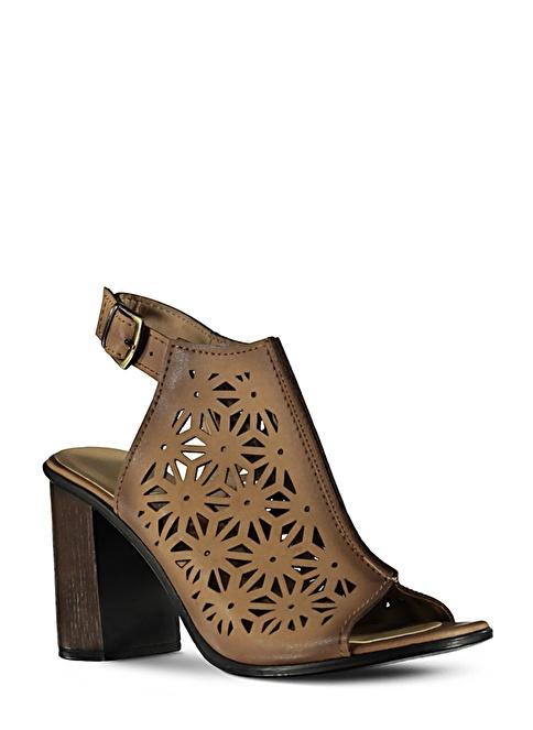 Marjin  Topuklu Ayakkabı Vizon